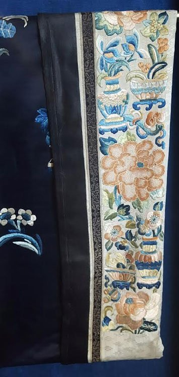 19th C. Chinese Qing Dynasty Silk Embroidery Robe - 4