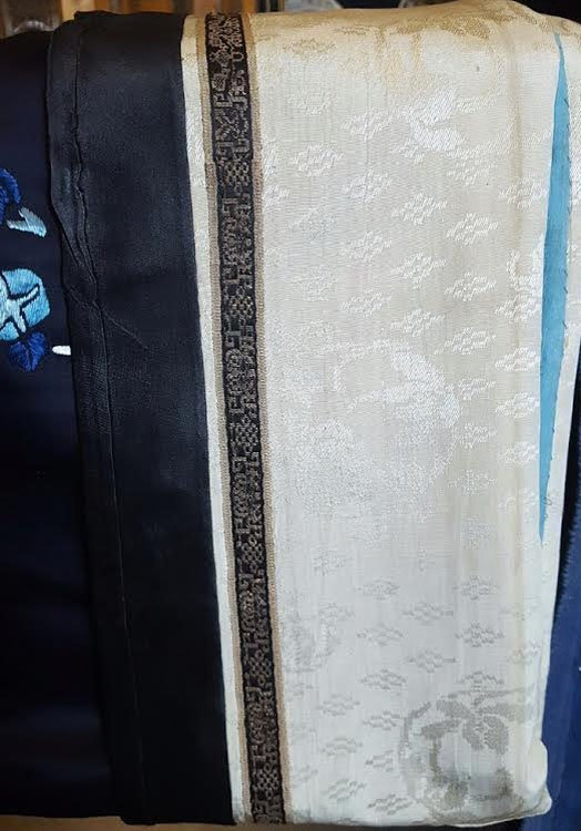 19th C. Chinese Qing Dynasty Silk Embroidery Robe - 5