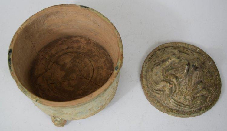 Chinese Zhou-Chin Period An Iridescent Glazed Pottery - 2