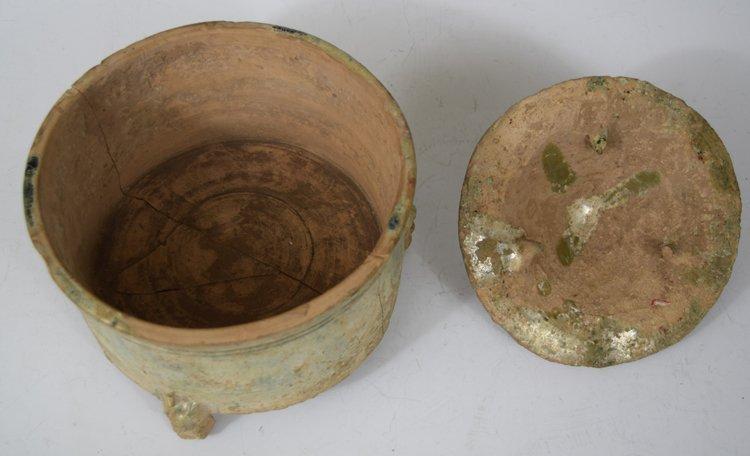 Chinese Zhou-Chin Period An Iridescent Glazed Pottery - 3