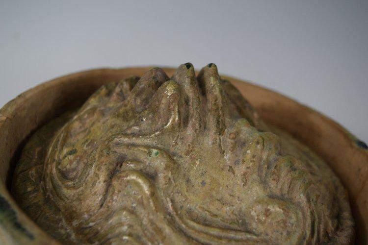 Chinese Zhou-Chin Period An Iridescent Glazed Pottery - 4