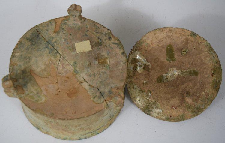 Chinese Zhou-Chin Period An Iridescent Glazed Pottery - 5