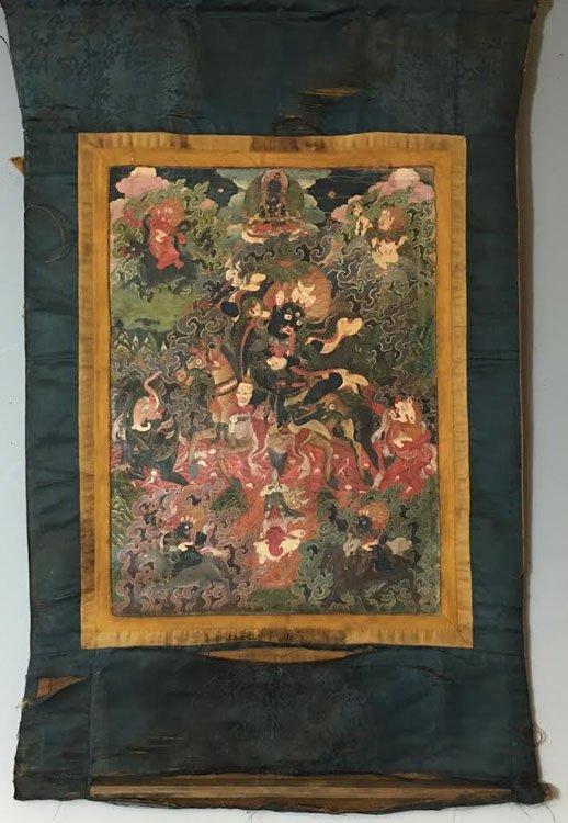 Fine 18th Century Chinese Tibetan Thangka.