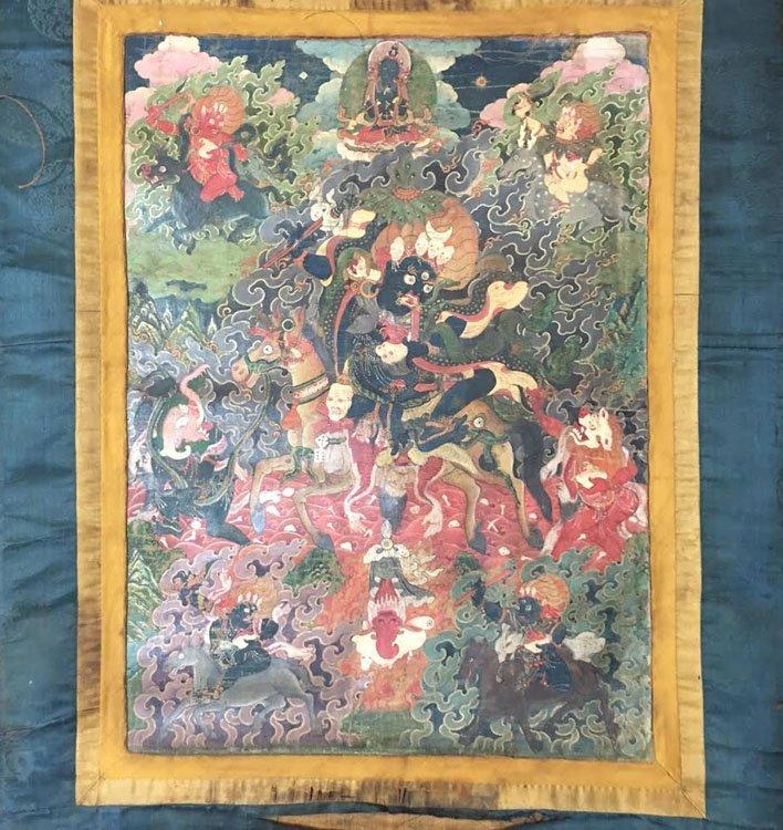 Fine 18th Century Chinese Tibetan Thangka. - 2