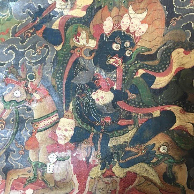 Fine 18th Century Chinese Tibetan Thangka. - 3
