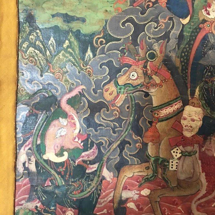 Fine 18th Century Chinese Tibetan Thangka. - 4