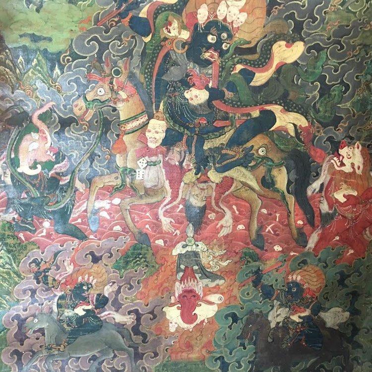 Fine 18th Century Chinese Tibetan Thangka. - 5