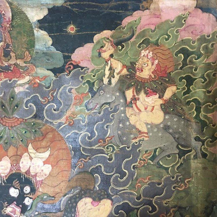 Fine 18th Century Chinese Tibetan Thangka. - 6