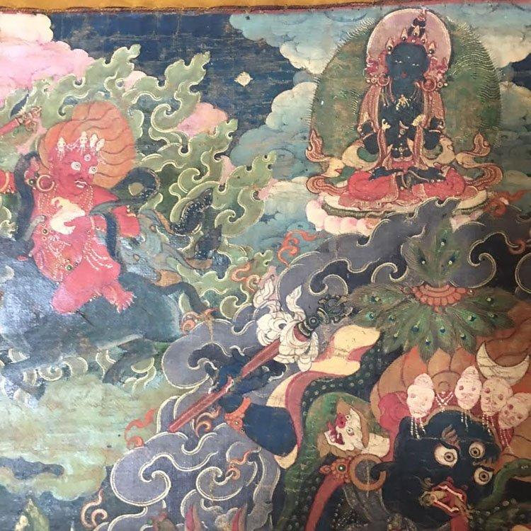Fine 18th Century Chinese Tibetan Thangka. - 7
