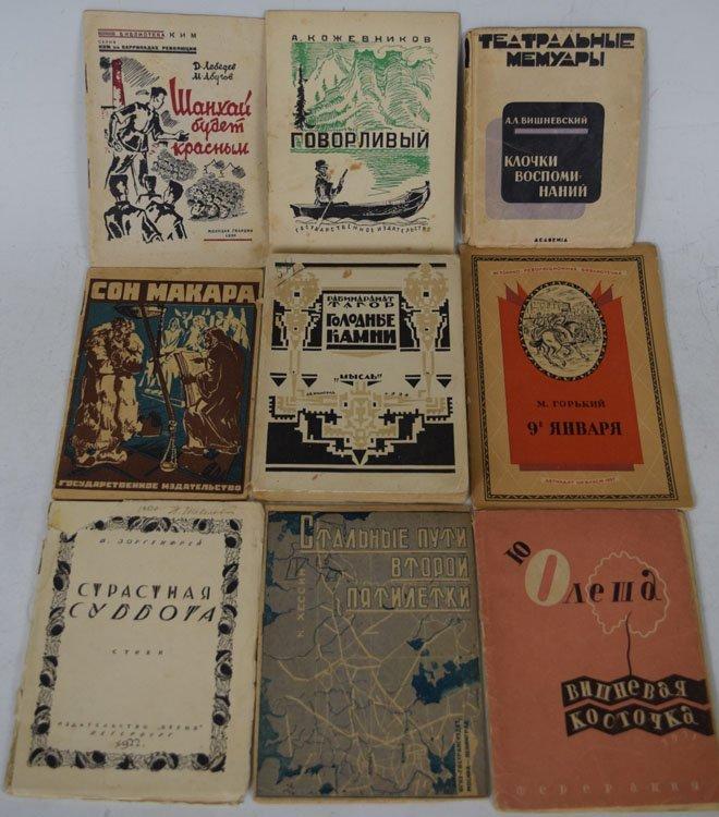 Nine Russian Pre WWII Avant garde Books