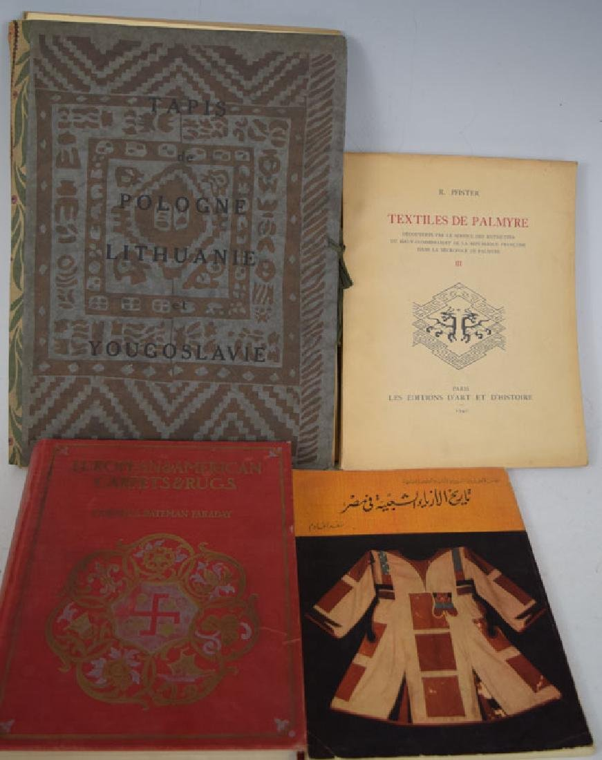 Four Carpet and Textile Reference Books.