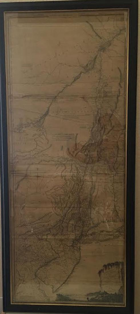 Rare - 1768 Holland - Jeffreys Map of New York and New
