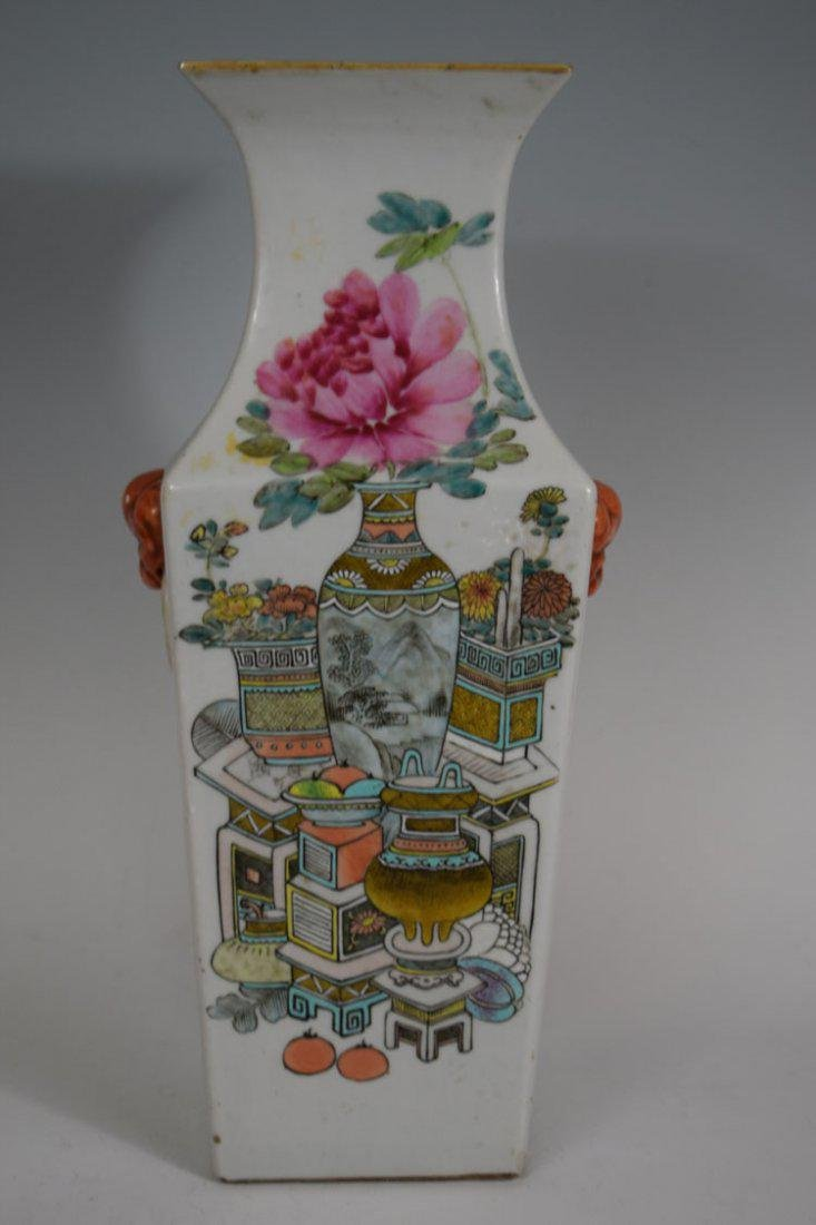 Chinese Late Qing Dynasty Xu Pinheng Marked Squire Vase