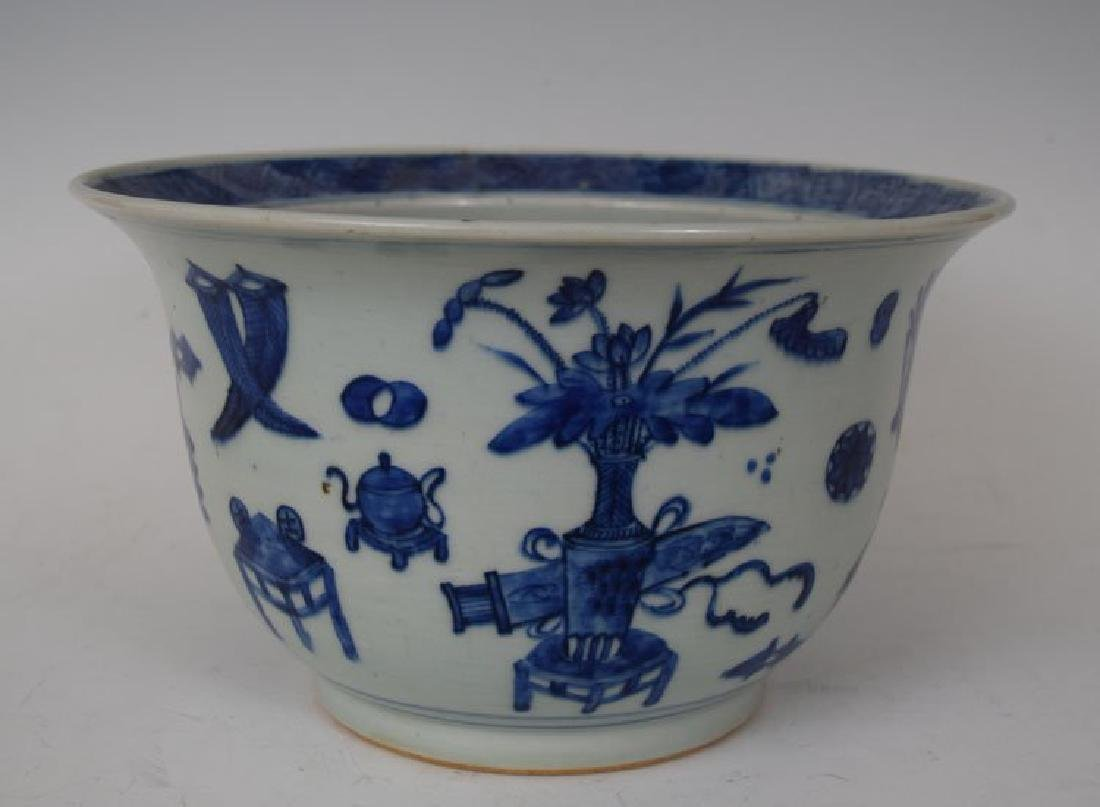 Blue and White 19th Century Chinese Flower Pot