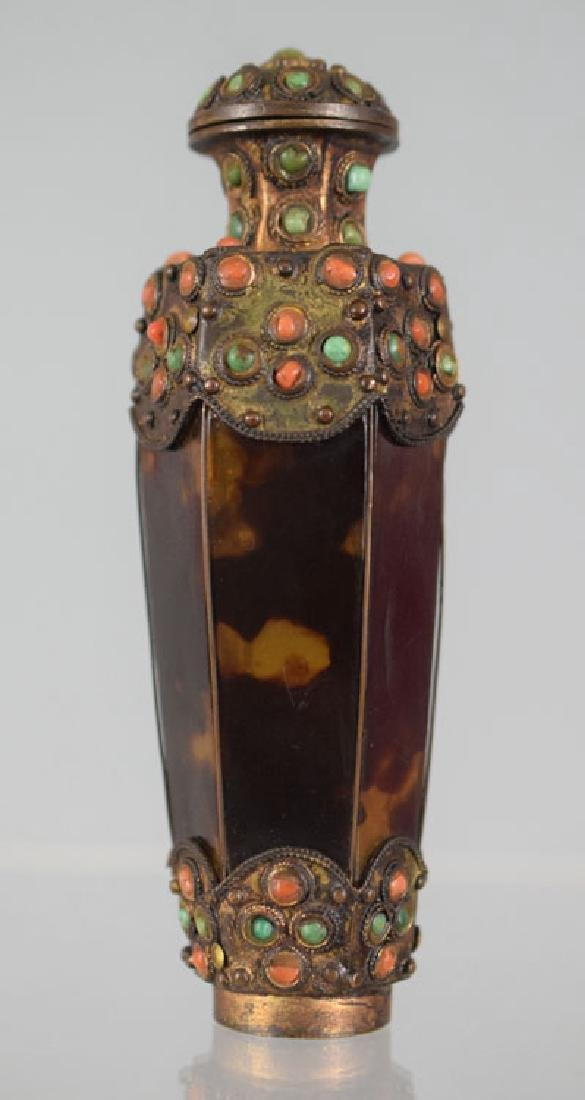 Antique Tibetan Tortoise Shell Snuff Bottle