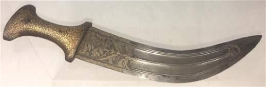 Very Nice Indo Persian Qajar Khanjar Dagger, Damascus