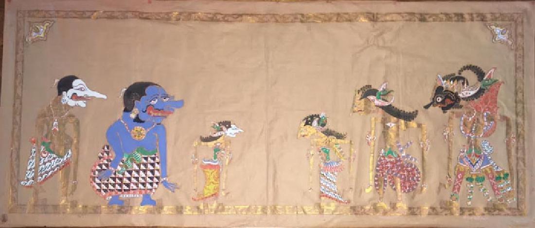 Antique Ceylon Java Painting