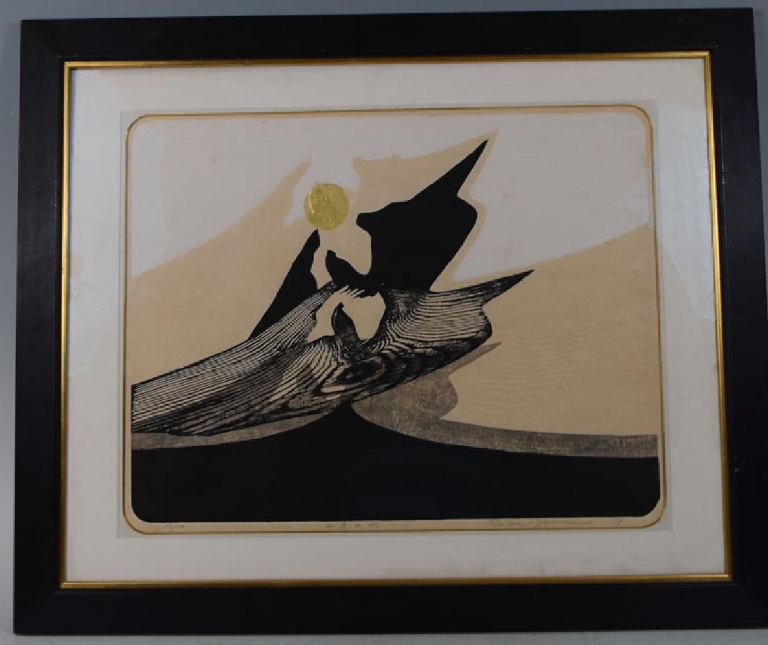 "Reika Iwami ""September Wave"" wood block print"