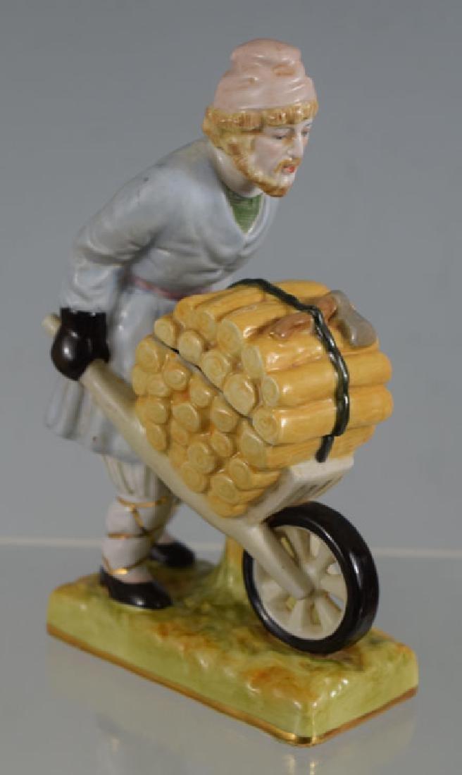 Russian Gardner Peasant Porcelain Figurine