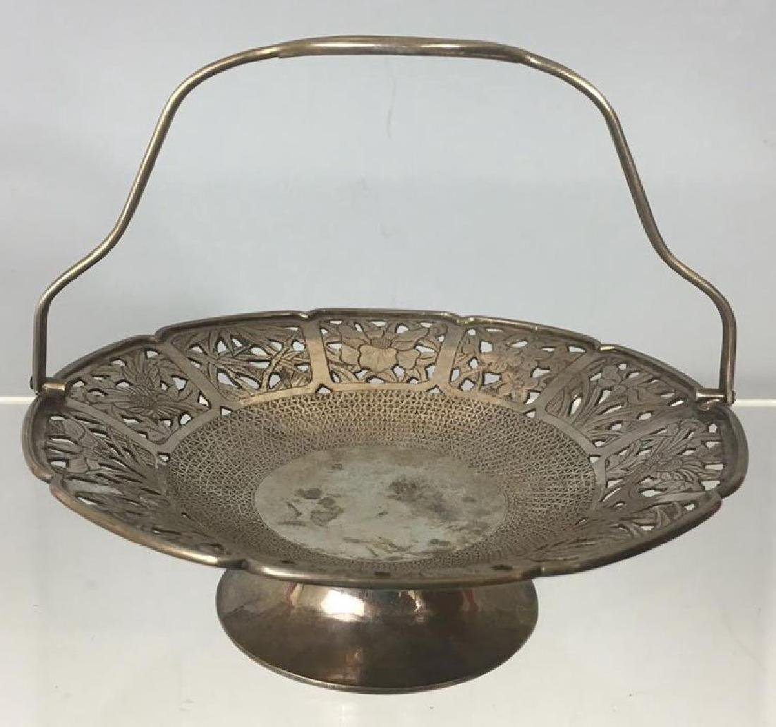 Antique Chinese Silver Serving Basket