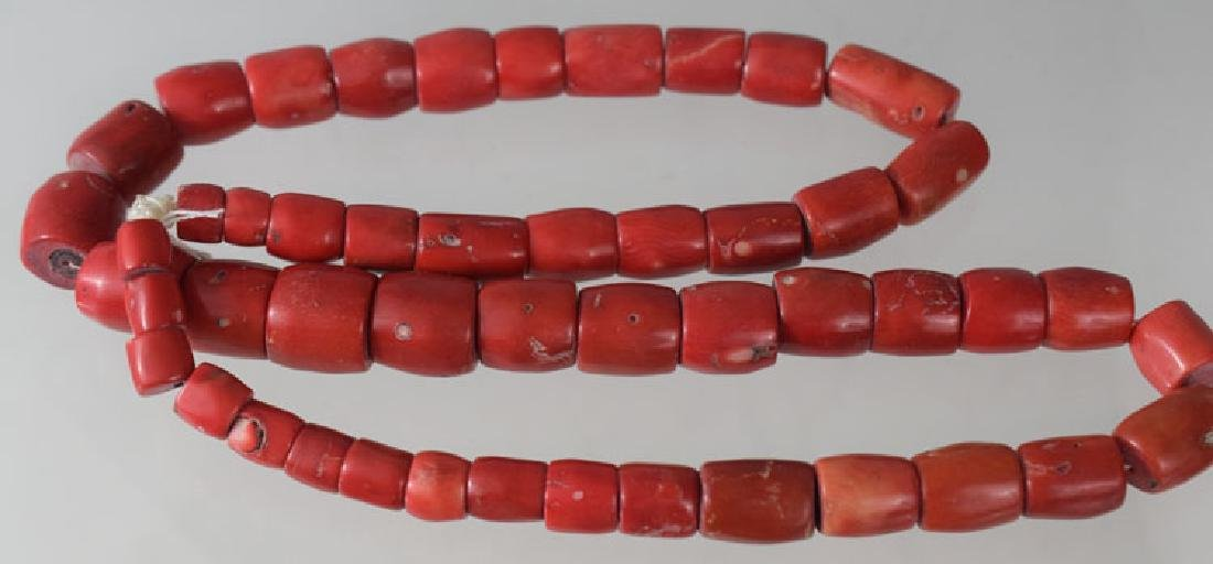 African Natural Coral Bead Necklace