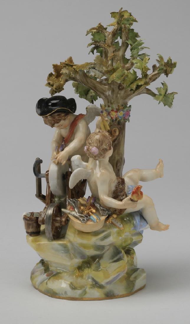"""19th c. Meissen figurine, maker marked, 8""""h"""