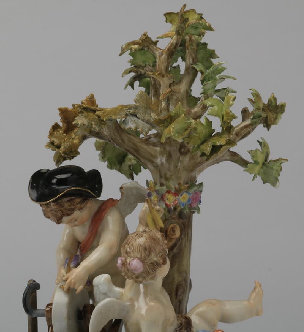 """19th c. Meissen figurine, maker marked, 8""""h - 2"""