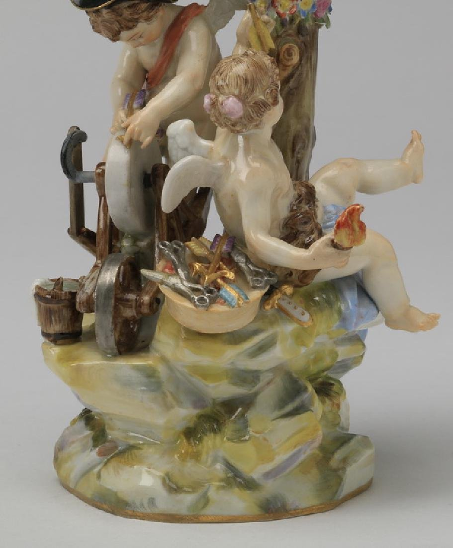 "19th c. Meissen figurine, maker marked, 8""h - 3"
