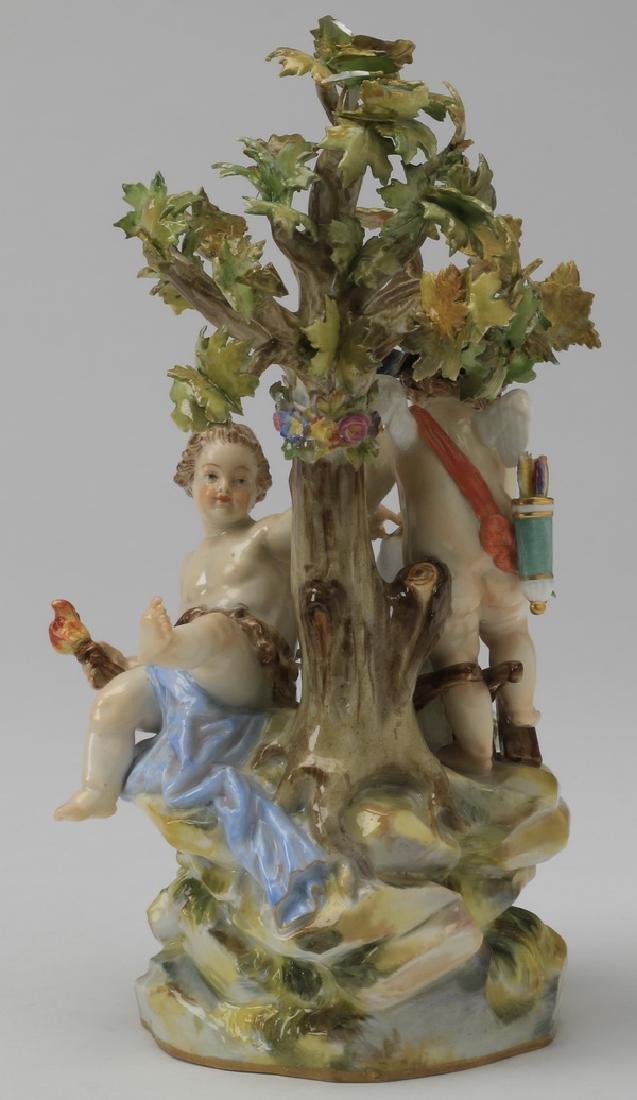 """19th c. Meissen figurine, maker marked, 8""""h - 4"""