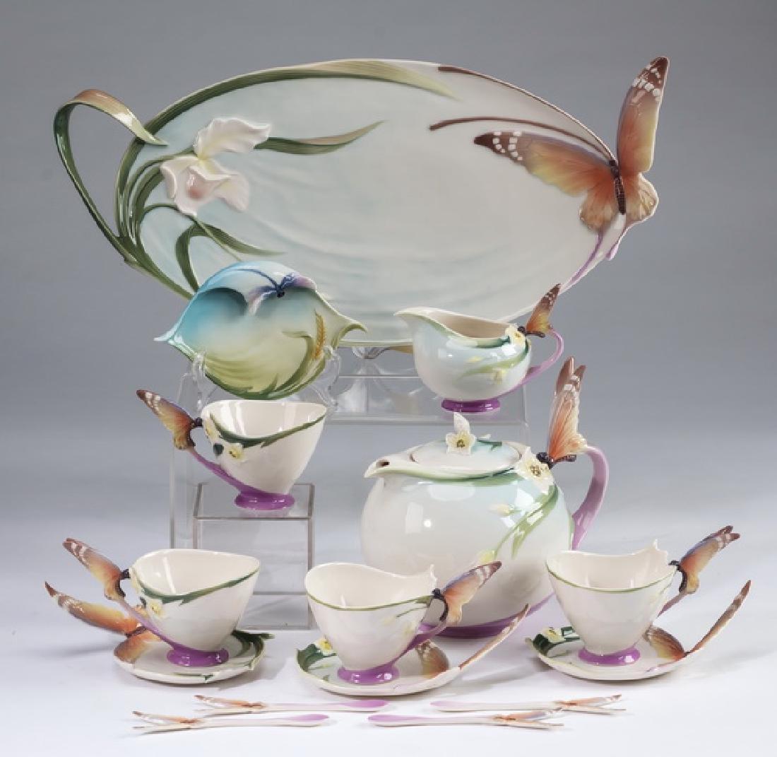 15 pc. 'Papillion' porcelain tea set by Franz