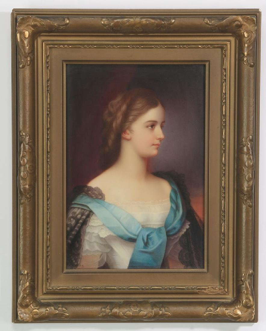19th c. Wagner hand painted porcelain plaque
