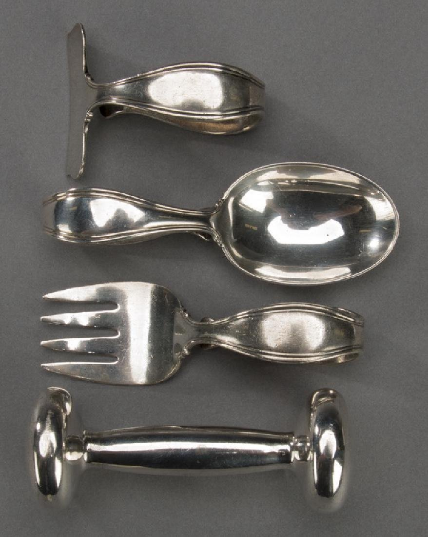 4pc Tiffany sterling silver baby gift set
