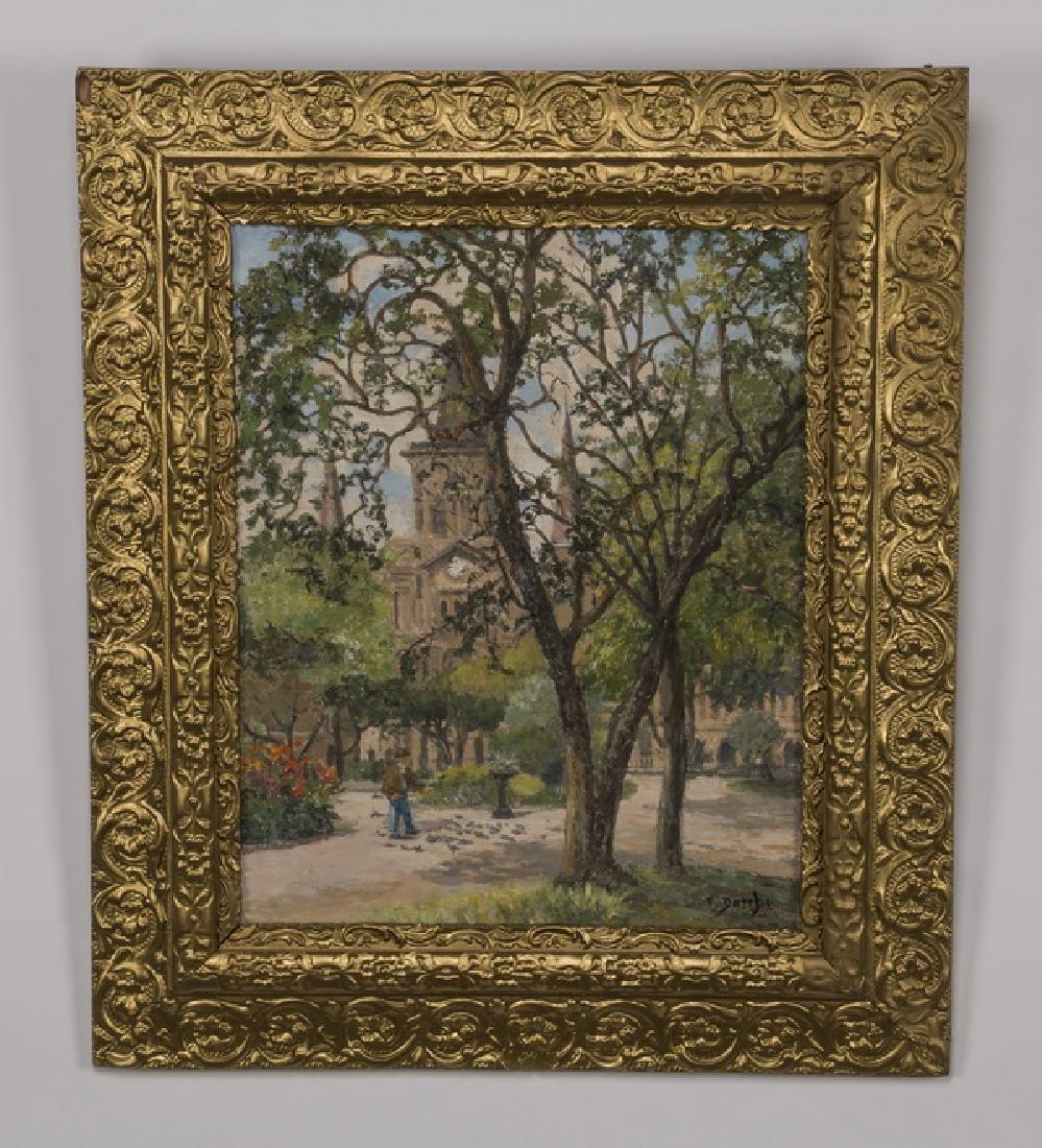 Therese Darche O/c of Impressionistic park scene