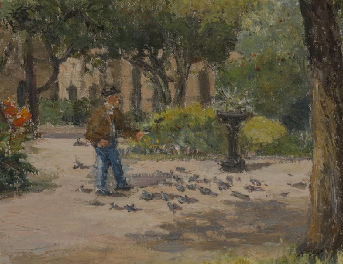 Therese Darche O/c of Impressionistic park scene - 2