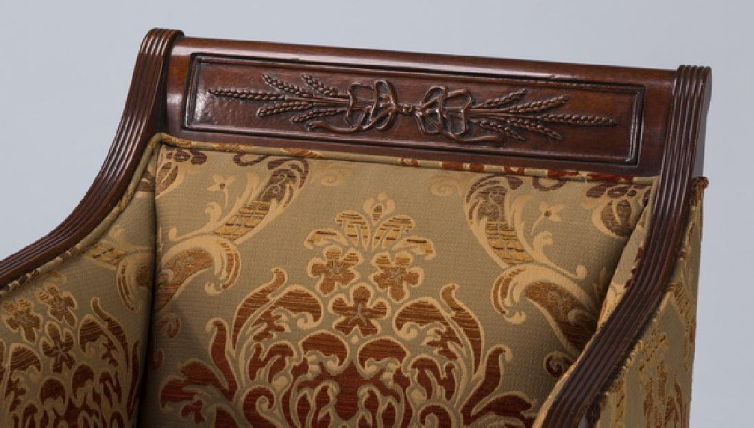 19th c. carved armchair, newly upholstered - 2
