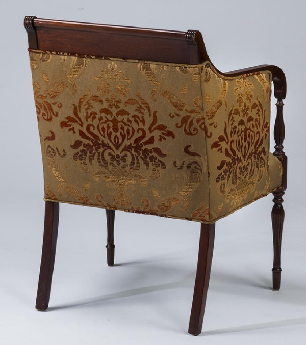 19th c. carved armchair, newly upholstered - 3