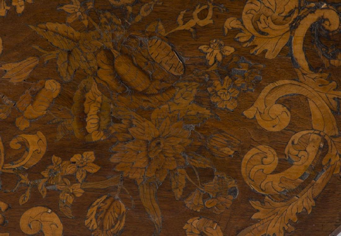 19th c. Continental burl & marquetry sewing table - 4