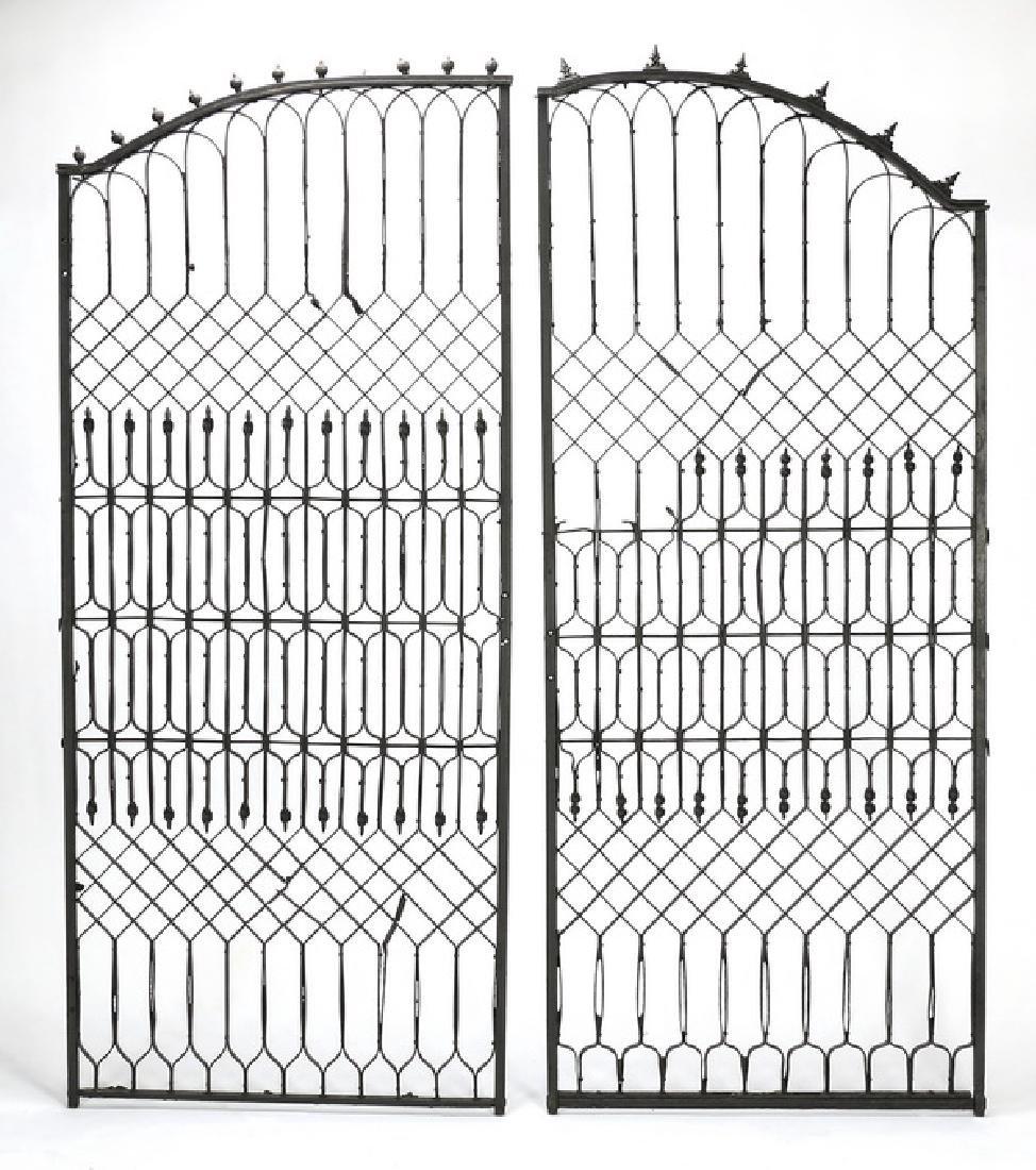 "Wrought iron garden gate, 102""w - 2"
