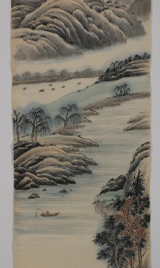 (2) Chinese hand scrolls, ink and watercolor - 4