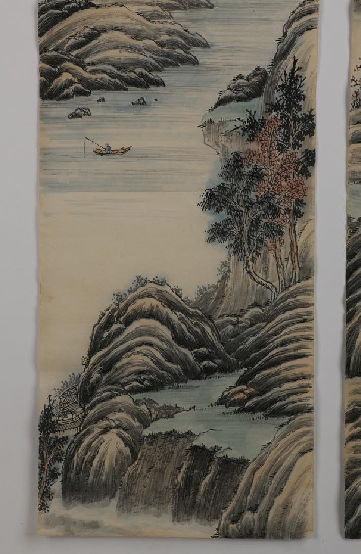 (2) Chinese hand scrolls, ink and watercolor - 5