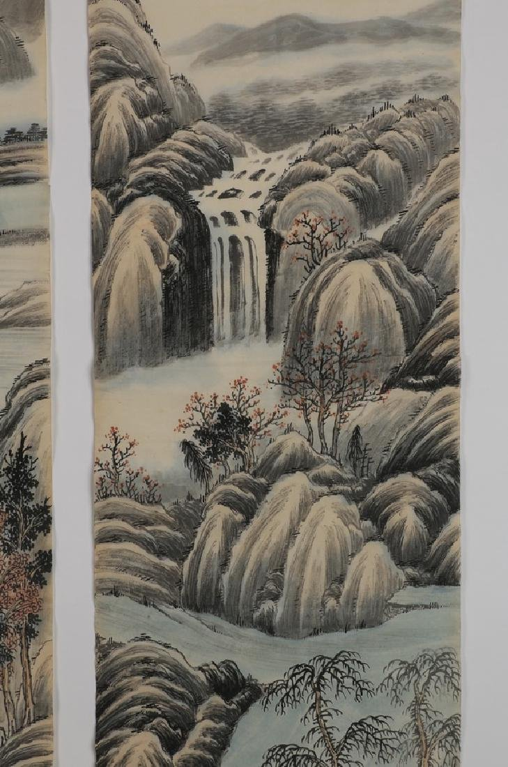 (2) Chinese hand scrolls, ink and watercolor - 8