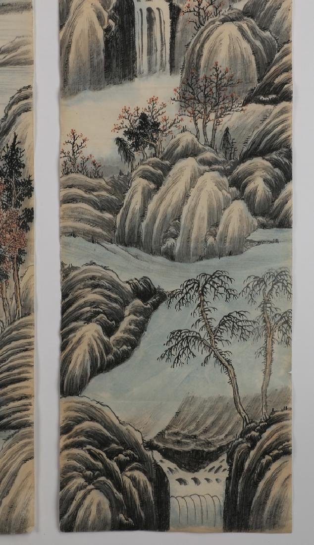 (2) Chinese hand scrolls, ink and watercolor - 9