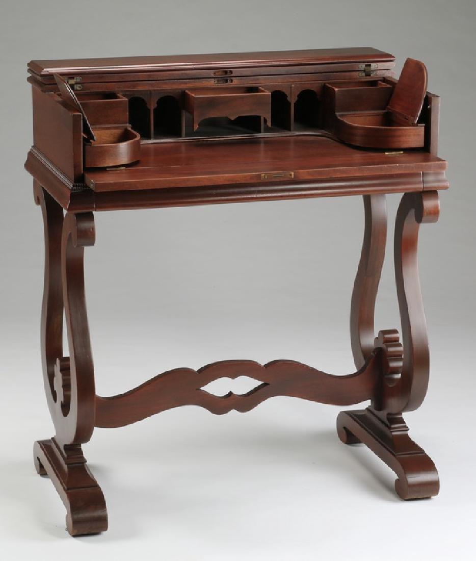 "Regency style flip top mahogany desk, 36""h"