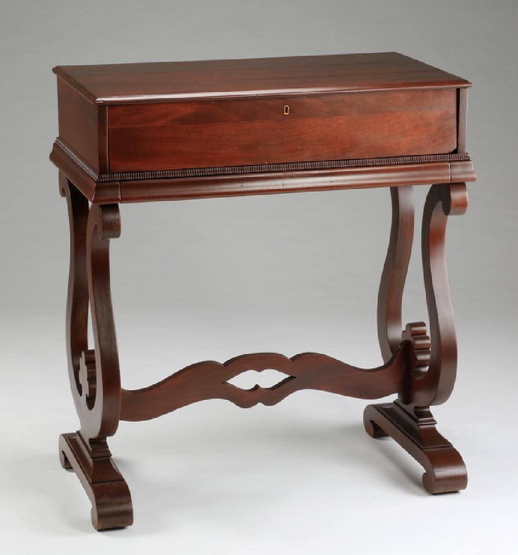 "Regency style flip top mahogany desk, 36""h - 2"