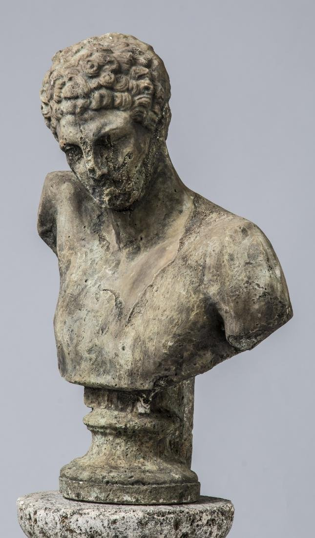 """Classical style bust of Hermes with pedestal, 64""""h - 3"""