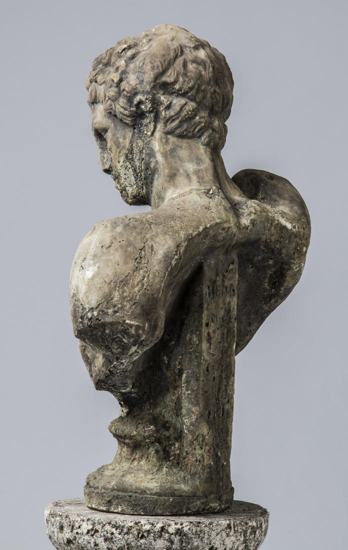 """Classical style bust of Hermes with pedestal, 64""""h - 4"""