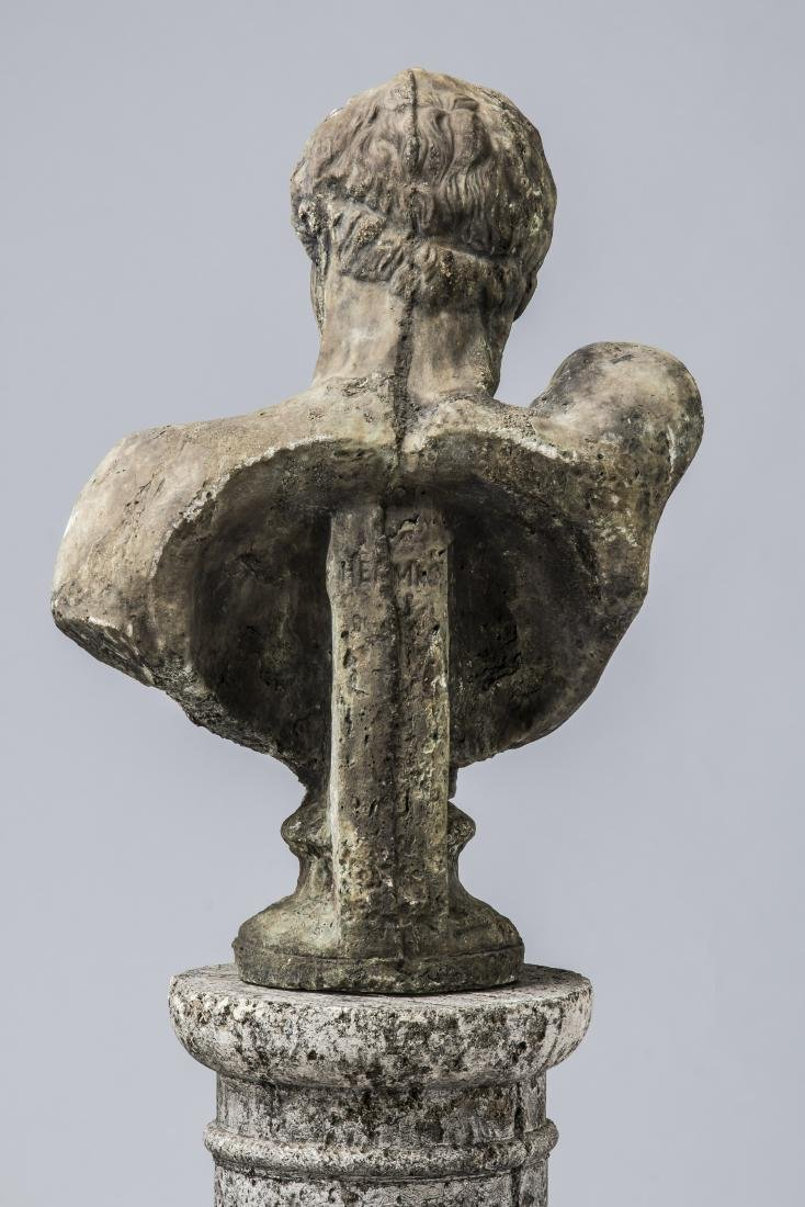 """Classical style bust of Hermes with pedestal, 64""""h - 5"""