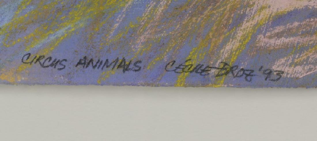 "Cecile Broz 'Circus Animals', signed, 52""w - 3"