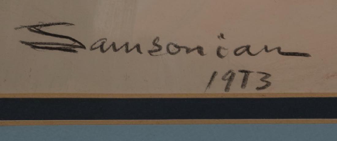 Simon Samsonian W/c on paper of still life, signed - 3