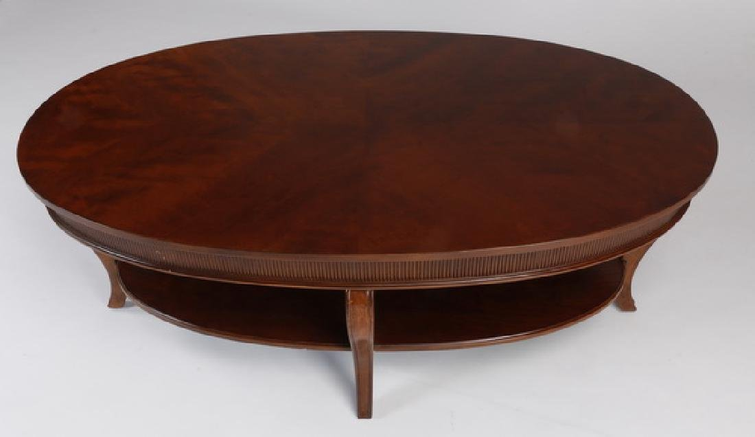"""Oval coffee table with lower shelf, 50""""l - 2"""